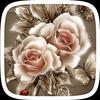 Golden Rose Flower Theme ícone