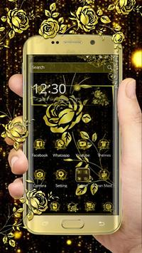 Luxury Gold Rose poster
