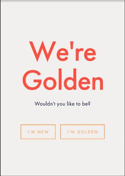 Golden For Volunteers poster