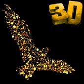 Golden Bird 3D Video LWP icon
