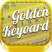 Golden Style 3D Keyboard Theme icon