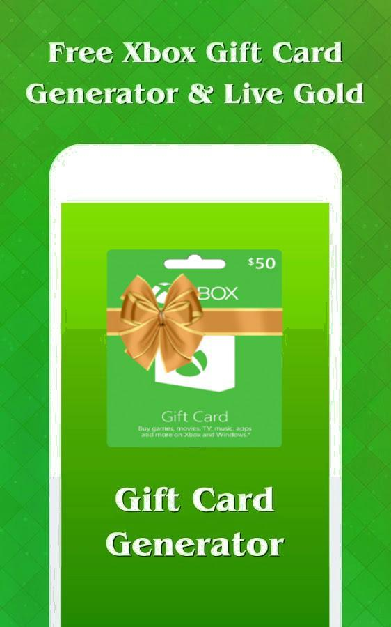 Xbox Gift Cards Free Live Gold Code For Android Apk Download