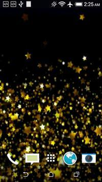 Gold Stars Live Wallpaper apk screenshot