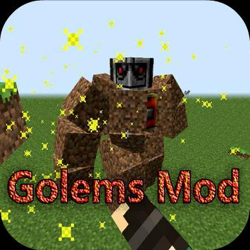 Ai Golems Mod for Minecraft PE poster