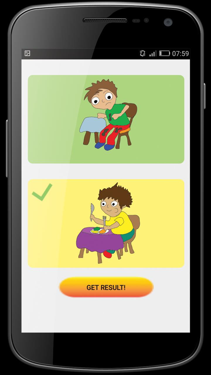Table Etiquette, Manners and Cutlery for Kids for Android