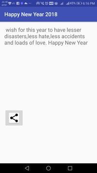 Happy New Year 2018 Sms screenshot 2