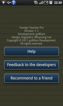 Foreign Teacher Pro apk screenshot