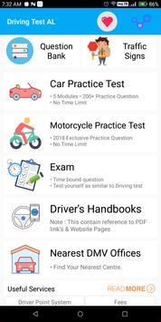 Alabama DMV Permit Practice Driving Test 2018 poster