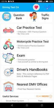 California DMV Permit Practice Driving Test 2018 poster