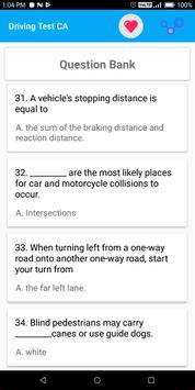 California DMV Permit Practice Driving Test 2018 screenshot 1