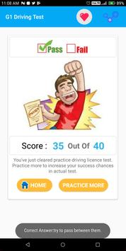 G1 Practice Test Ontario 2018 screenshot 7