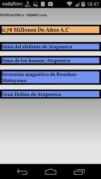 CronoQuiz Historia de España apk screenshot
