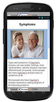 Gauchers Disease & Symptoms apk screenshot