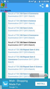 Gauhati University Exam Result screenshot 3