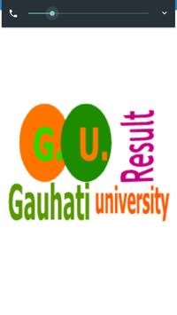 Gauhati University Exam Result poster
