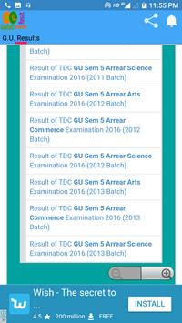 Gauhati University Exam Result screenshot 5