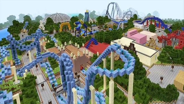 New theme park for minecraft poster