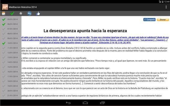 Meditación Matutina 2014 screenshot 4