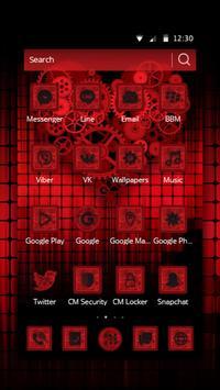 Dark Red Gear Theme apk screenshot
