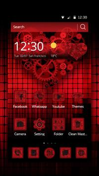 Dark Red Gear Theme poster