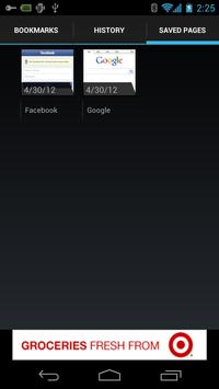 Galaxy Browser for ICS apk screenshot
