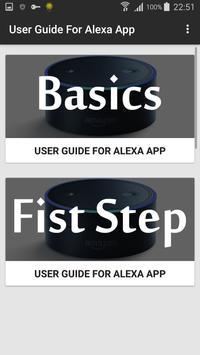 User guide for Alexa App screenshot 1