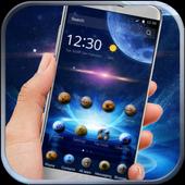 galaxy star blue theme icon