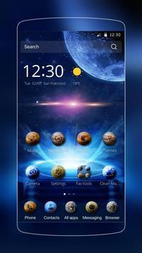galaxy star blue theme poster