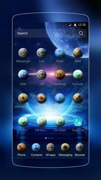 galaxy star blue theme apk screenshot
