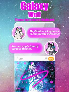 Galaxy Wolf Keyboard Theme for Girls poster