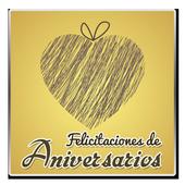Icona Felicitaciones de aniversarios