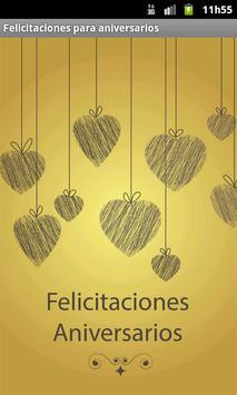 Poster Felicitaciones de aniversarios