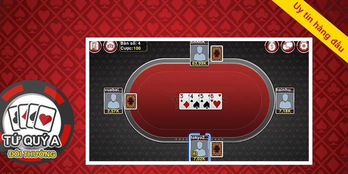 Game bài Tứ Quý A - Đệ nhất apk screenshot