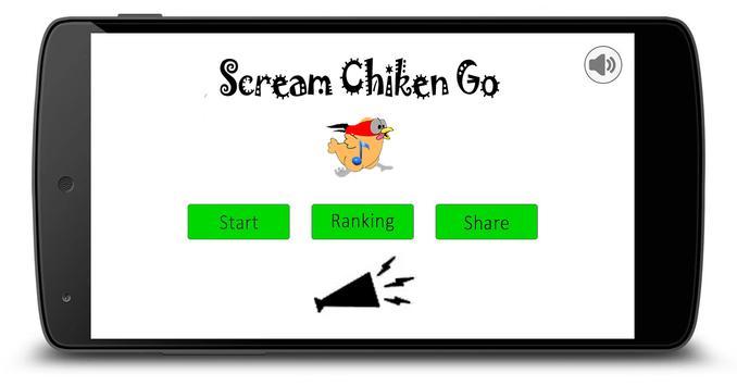 Scream chicken Go poster