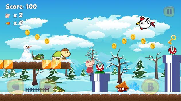 Peppa Run Pig Adventure poster Peppa Run Pig Adventure apk screenshot ...