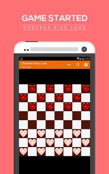 Checkers kiss love apk screenshot