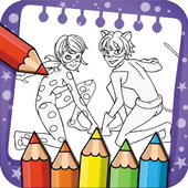 Coloring Book game for Ladybug and Cat Noir icon