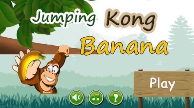 jumping Kong Banana poster