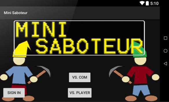 Mini Saboteur poster