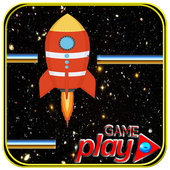 Flying in space icon