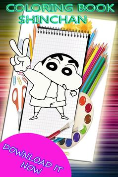 Coloring Book  for Shin Chann poster