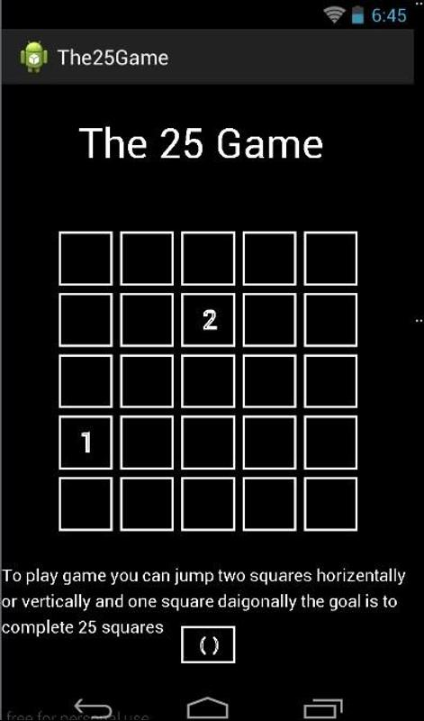 Game 25 For Android