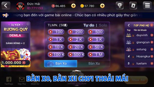 Game Bai Online - Danh Bai Tien Len Mien Nam screenshot 4