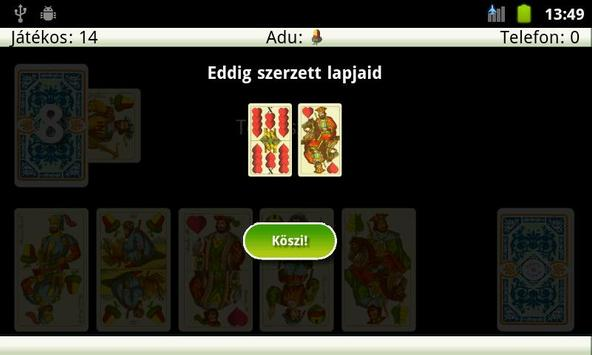 Snapszer (Schnapsen, 66) apk screenshot