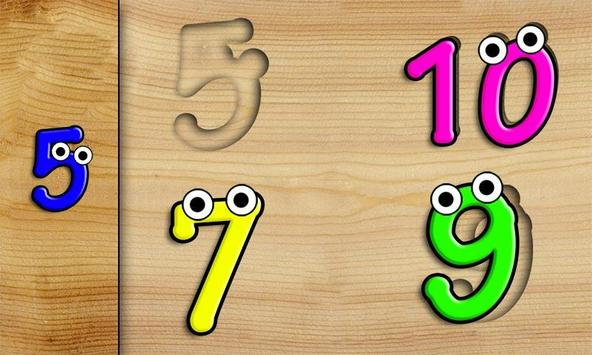 Kids Shape Sorter: Numbers poster