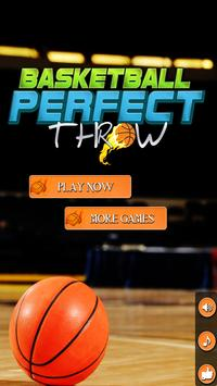 Basketball Perfect Throw poster