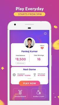 GameShow - Live Quiz Game App to Earn money online screenshot 1