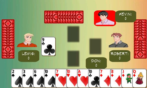 Hearts card game poster