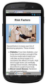 Gangrene Disease & Symptoms apk screenshot