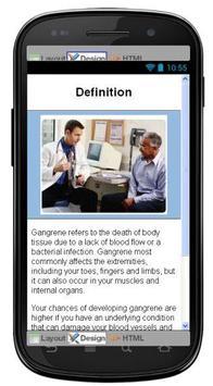 Gangrene Disease & Symptoms poster